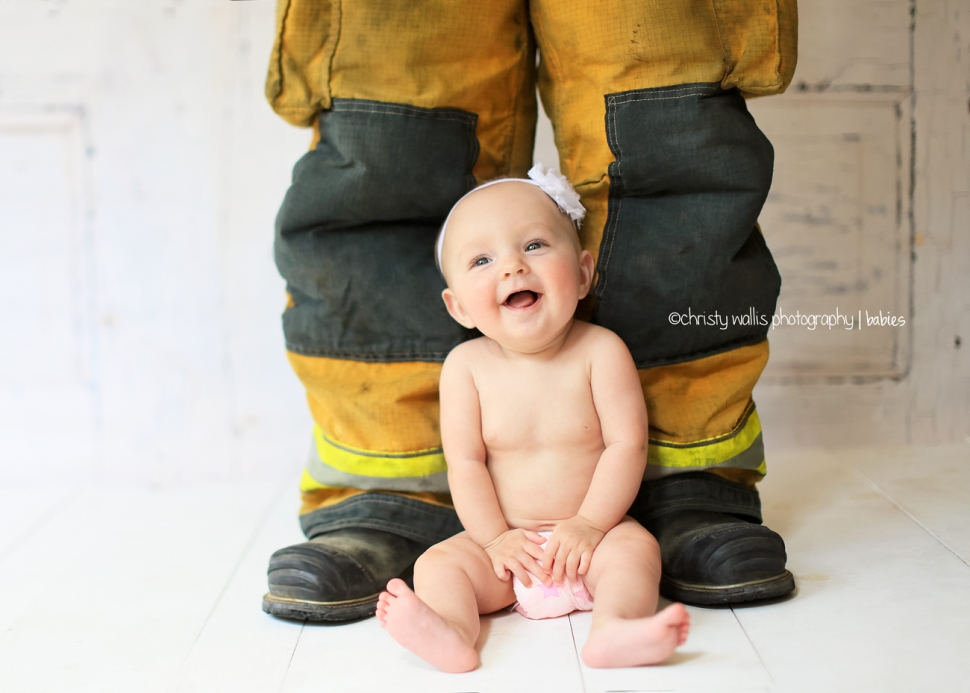 Beautiful san diego baby photography firefighter baby photo