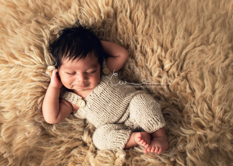 Handsome 5 Day Old Vivaan San Diego Newborn Photographer
