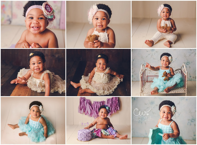 Nessa One Year Portraits San Diego Cake Smash Photographer